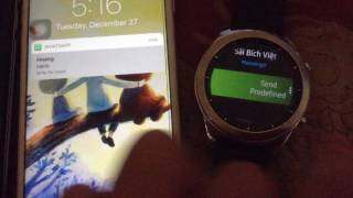 Gear S3 & S2: Send Direct Messages to WhatsApp, FB Messenger, Telegram, Line, KakaoTalk,  Hangouts