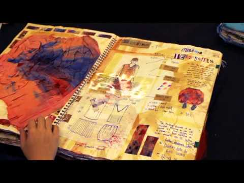 Glenn Wigham A* A-Level Textiles Sketchbook - Durham Sixth Form Centre