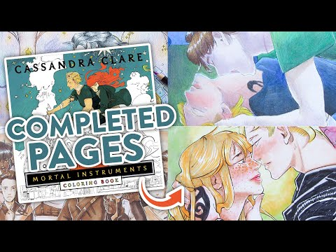 the-mortal-instruments-coloring-book-completed-pages-tour-|-coloring-book-flip-through