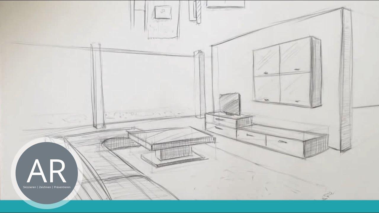 Zeichnen Lernen Akadmie Ruhr Tutorials Raumliches Zeichnen Raum