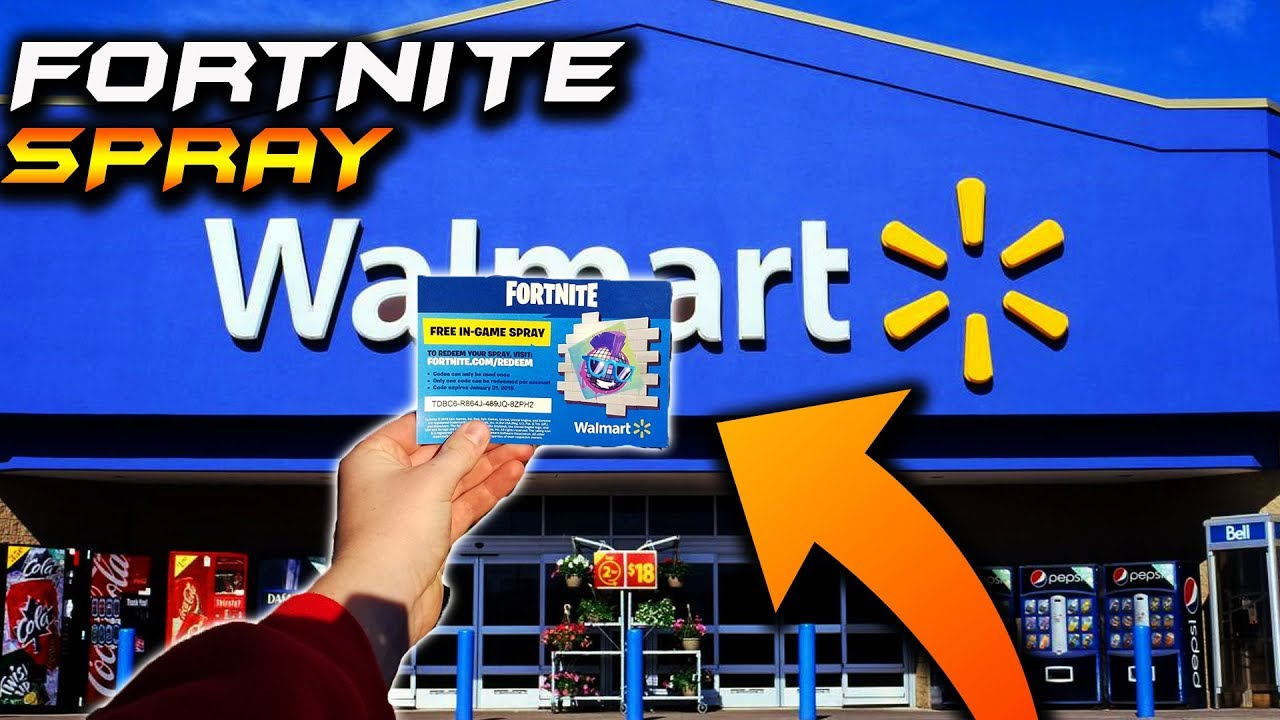 Walmart Exclusive Fortnite In Game Spray Fortnite Fortnite