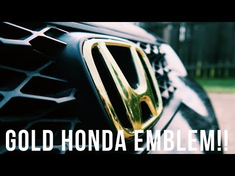 Vinyl Wrapping My Honda Civic Emblem GOLD!!!