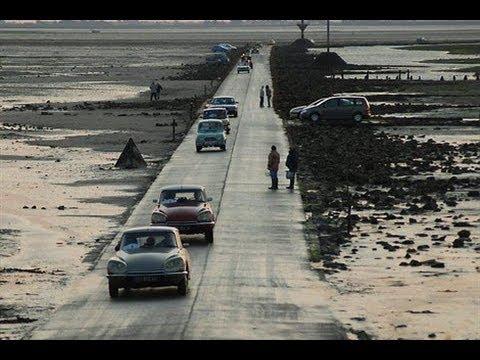 le passage du gois en voiture sur l'île de noirmoutier - youtube