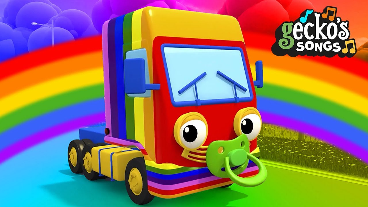 Rainbow Baby Truck|Gecko's Garage|Songs & Nursery Rhymes For Kids|Color Trucks|Learning For Toddlers