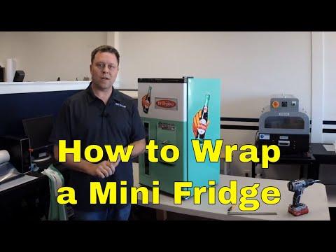 How to wrap a mini fridge vintage vending machine design Rm wraps