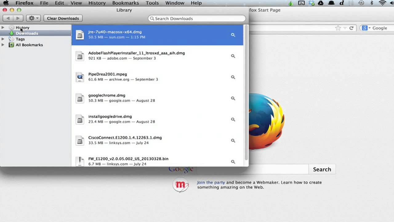 How to Hide the Download Side Menu in Firefox : Using Google Chrome or  Firefox