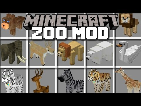 Minecraft ZOO ANIMAL MOD / LOTS OF ANIMALS IN A ZOO AND BRING THEM TO LIFE!! Minecraft