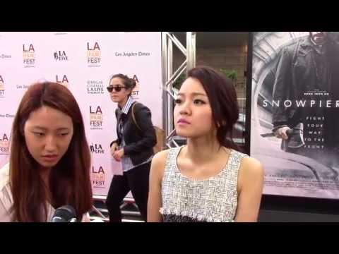 2014 LA Film Festival  Carpet Chat with AhSung Ko