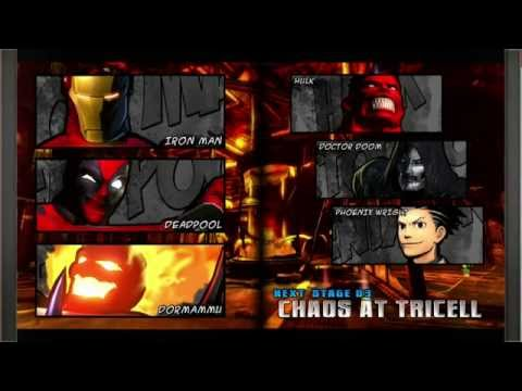 Ultimate Marvel Vs Capcom 3 Deadpool, Iron Man, DormammuNo Commentary