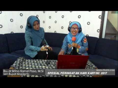 Peringatan hari Kartini 2017 radio R FM Mojokerto bareng Ibu dr Ikfina Kamal Pasa, M Si