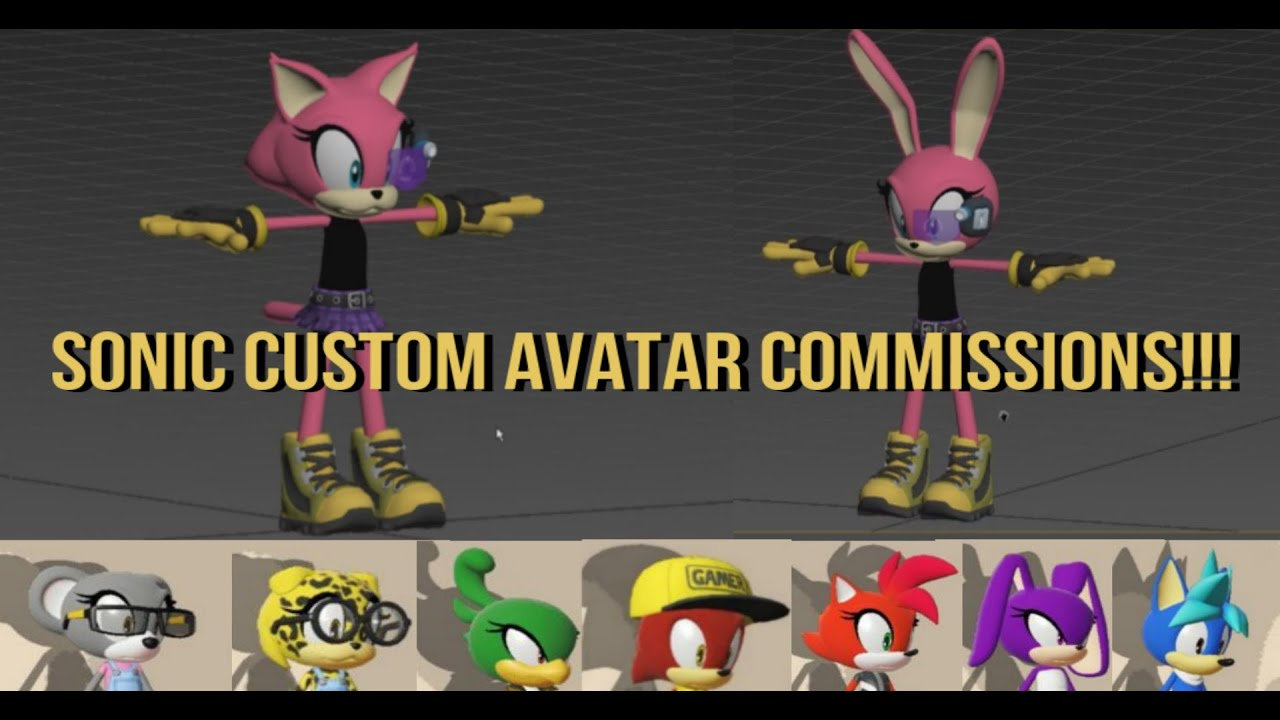 Create Your Own Custom Sonic Fan Character Avatar Commissions | Can Be Used  For Modding