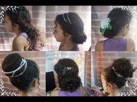 6 Penteados Para Daminhas Cabelo Cacheados