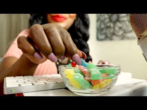 🍬 Sour Patch Kids ASMR Eating Sounds Tapping ❤ AIR CONDITION