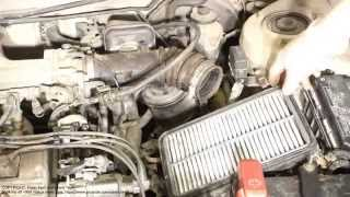 How to wash air filter console Toyota Corolla. Years 1991 to 2007.