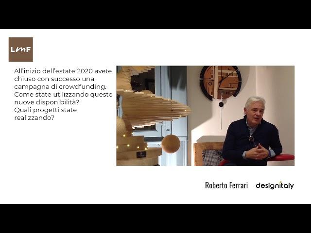 Gli obiettivi del crowdfunding - Roberto Ferrari (Design Italy)