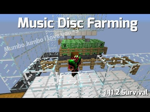 Minecraft 1.12 Music Disc farm (survival) & Mumbo Jumbos super disc farm show