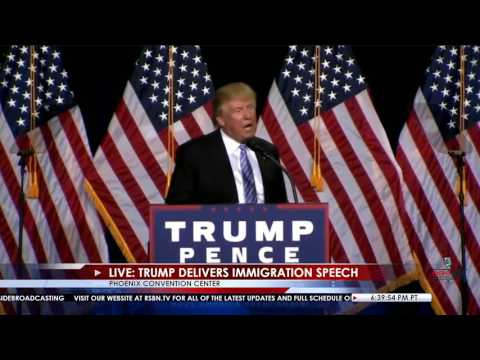 Donald Trump AMAZING Full Immigration Speech in Phoenix, AZ 8/31/16