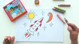 How to draw a rocket (STABILO Tutorials, drawing beginners)