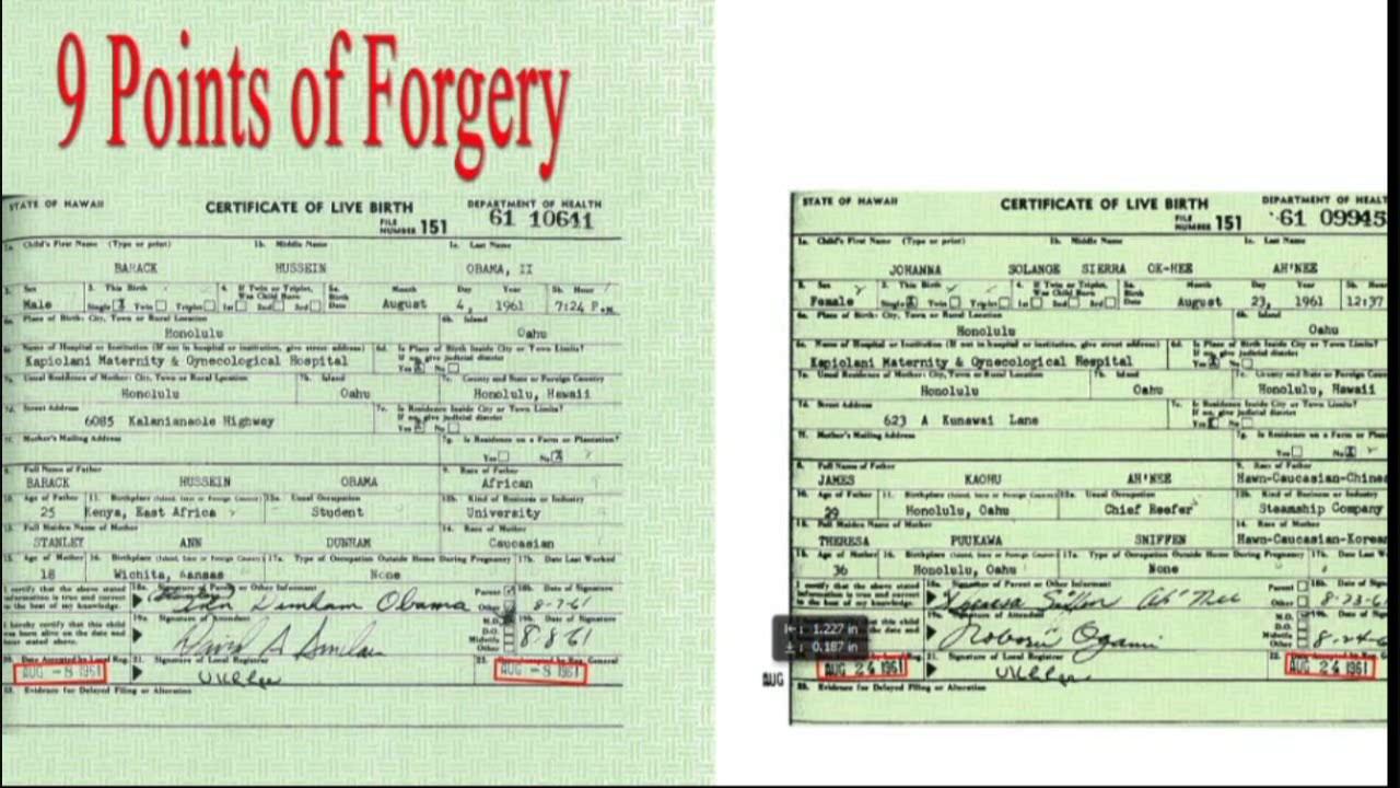El certificado de nacimiento de Obama ES FALSO! - disidencia.info