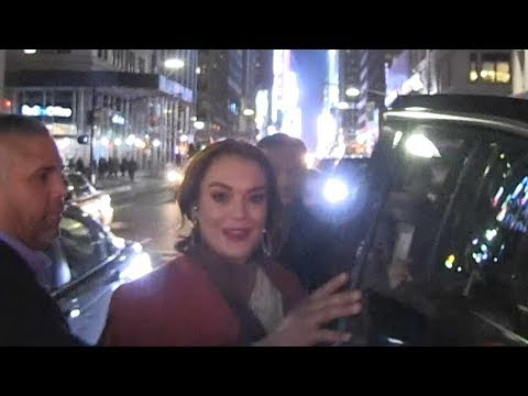 Lindsay Lohan Calls It an Early Night, Seems Super Responsible at MTV Premiere Party Mp3