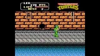 Teenage Mutant Ninja Turtles II Walkthrough/Gameplay NES HD 1080p