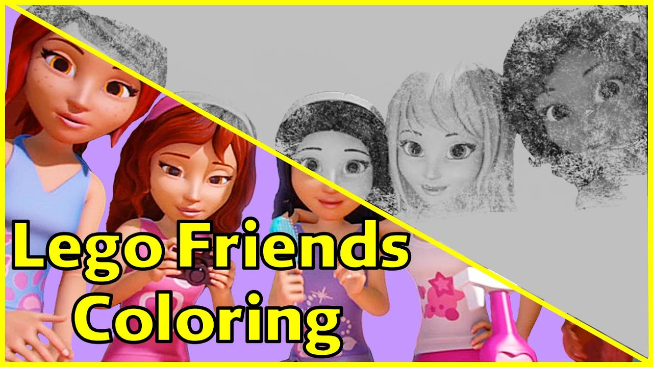 lego friends coloring pages friends are forever part 1 lego