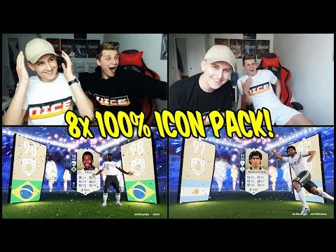 8x 100% ICON Pack! Wer PELE zieht gewinnt das letze ICON Battle im WM Modus! - Fifa 18 Ultimate Team