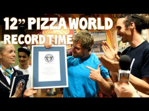 World's Fastest Time To Eat A 12' Pizza - 41.31 Seconds | Furious Pete