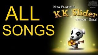 All Animal Crossing K.K. Slider Songs! (GameCube)