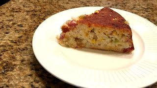 Iron Skillet Ham And Cheddar Cornbread – Lynn's Recipes