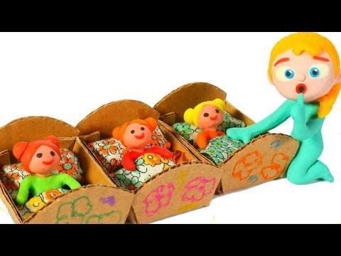 SUPERHERO BABIES BUILD A DOLLS HOUSE ❤ SUPERHERO BABIES PLAY DOH CARTOONS FOR KIDS