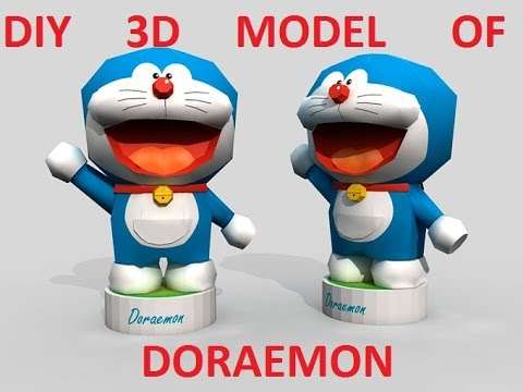 Papercraft DIY   DORAEMON 3D PAPER MODEL