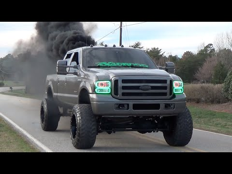 Zac Cotter In His 2005 F250 Powerstroke Turbo Diesel