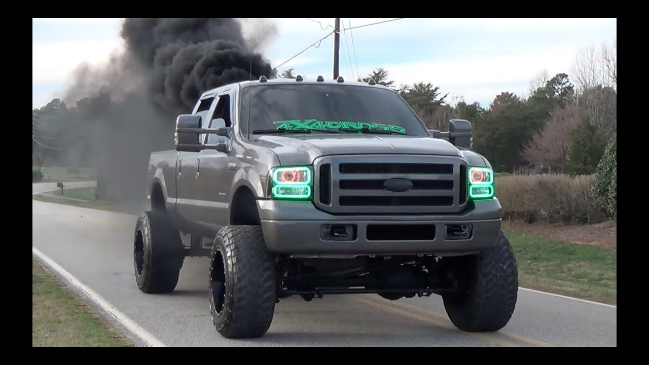 Zac cotter in his 2005 f250 powerstroke turbo diesel youtube