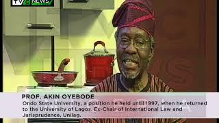 WATCH NOW: PROF. AKIN OYEBODE SPEAKS ON POLITICAL PARTIES IN NIGERIA PT 1