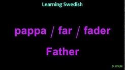 "Learning Swedish (Lesson 12) ""Family"""