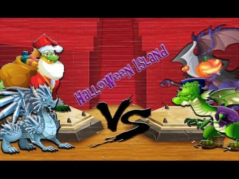 Halloween Island - Combate contra Frankie Dragon y Halloween Dragon - Dragon City