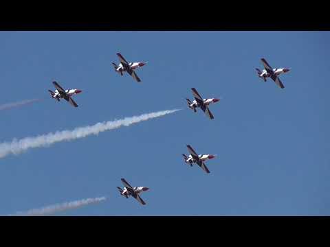 Athens Flying Week 2017 Egyptian Air Force K-8E Karakorum Silver Stars