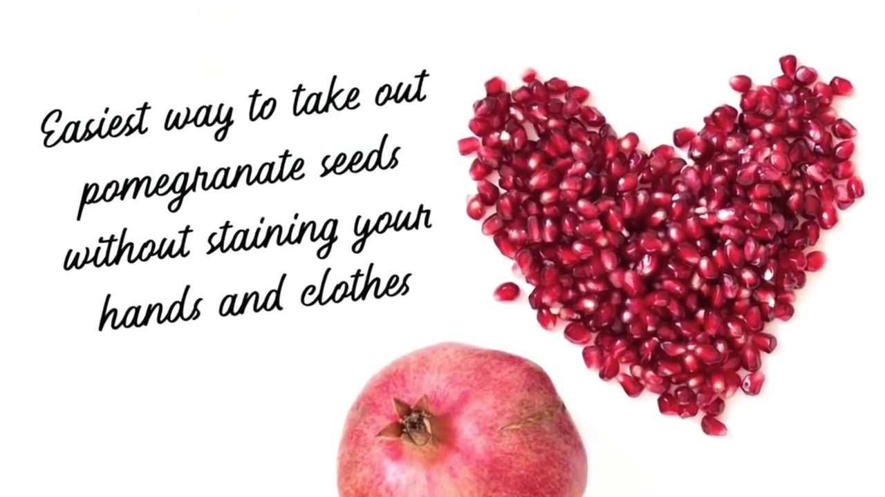 Easiest Way To Get Pomegranate Seeds Without Staining Your Hands And Clothes You