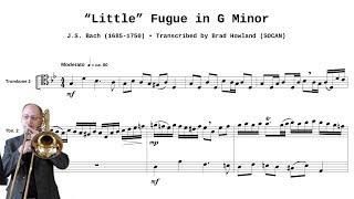 Bach Little Fugue for Trombone Quartet