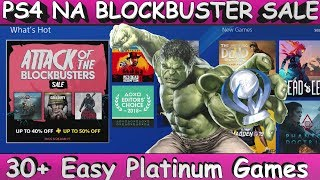 *NEW* PS4 [NA] Attack Of The Blockbusters SALE | 30+ Easy Platinum Games | ends August 28.08.2018
