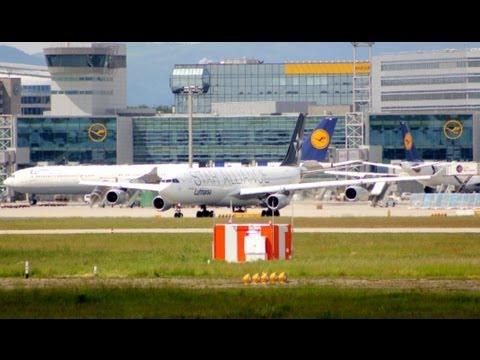 Lufthansa (Star Alliance) Airbus A340-300 Take off Frankfurt International Airport