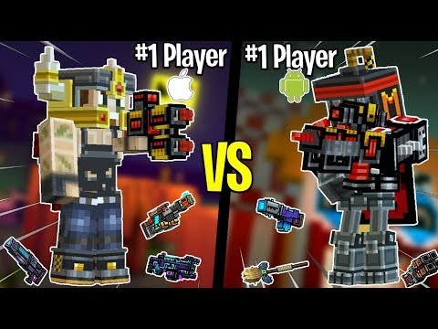 #1 IOS Player Vs. #1 Android Player! Best Pixel Gun 3D Players 1v1! (iOS Vs Android)