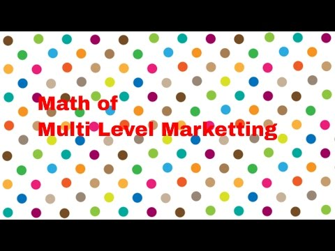 Math behind Multi Level Marketting