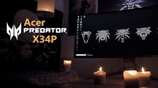 Acer Predator X34P Review - Ultrawide Curved WQHD Gaming Monitor with G-Sync and 120Hz