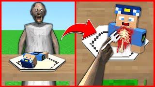 GRANNY AKŞAM YEMEĞİNDE KEREM KOMİSERİ YİYOR 😱 - Minecraft