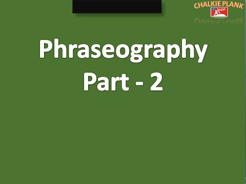 Phraseography part 2