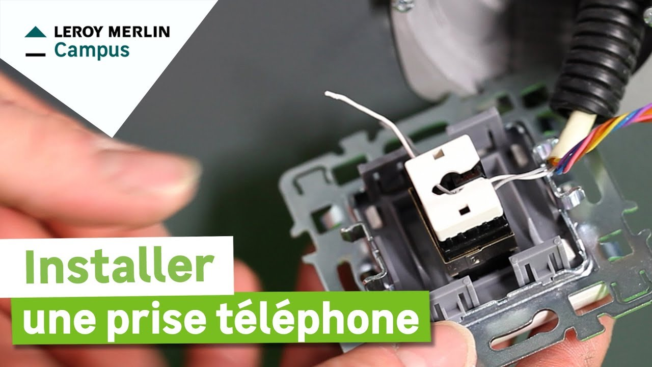 Comment Installer Une Prise Téléphone Leroy Merlin