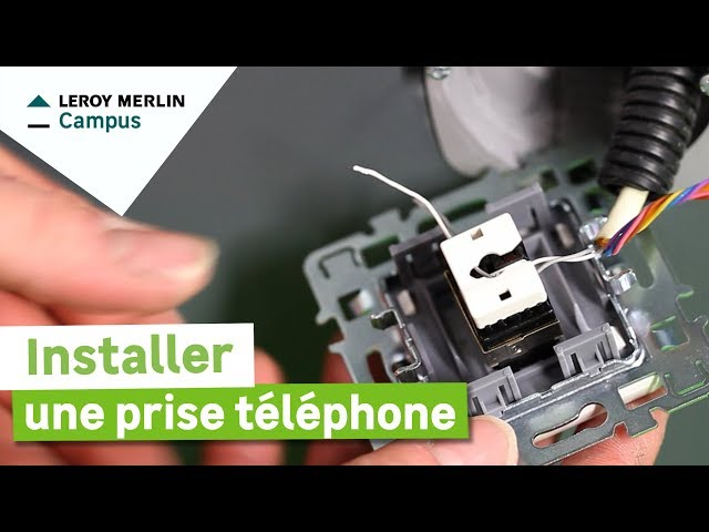 Comment Installer Une Prise Téléphone Leroy Merlin Youtube