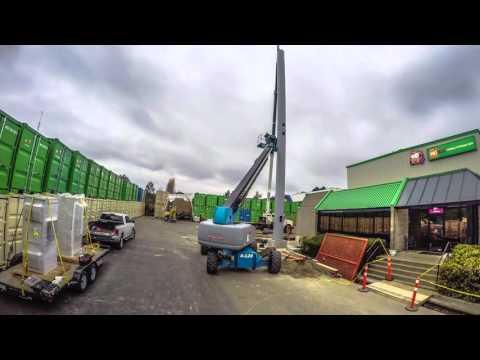 Time lapse - Telecom Monopole Tower Stacking - Villamar Construction